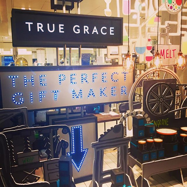 We are delighted our first True Grace Bespoke Pop Up has opened in John Lewis Oxford Street.  BESPOKE engraving from The Perfect Gift Makers...TRUE GRACE 💡