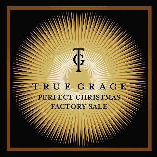 TRUE GRACE FACTORY SALE 🎅🏻 MONDAY 12th to THURSDAY 15th DECEMBER 10am - 5pm TRUE GRACE  CRUSADER PARK ROMAN WAY WARMINSTER BA12 8SP  We are looking forward to seeing you x
