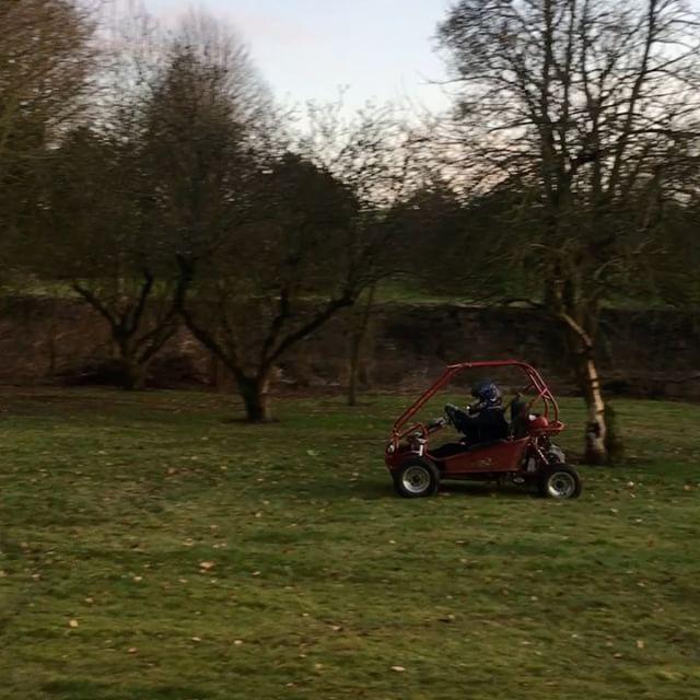 Half term fun...Noah has turned the garden into a race track!!! 😜
