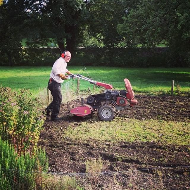 I have always wished for my very own vegetable patch...it was so overgrown with weeds we had to commandeer Jaimie and his trusty rotavator! 💚 There is something quite cathartic about watching it being cleared 🌾 • #WalledGarden #TrueGraceMoments #TrueGraceBespoke #EssenceOfEnglandTG #AsItShouldBeTG #TrueGraceTG #BurlingtonArcade #MilsomPlace  #EnglishSummer #vegetablepatch