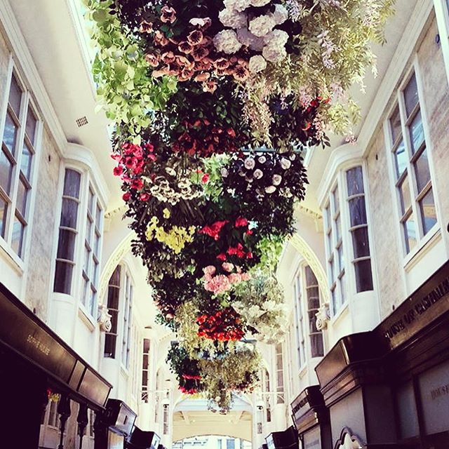 """Have you visited our lovely shop in @BurlingtonArcade recently? The Arcade is looking so pretty with an amazing paper flower installation """"The English Garden"""" by @Mathildenivet Created as a tribute to the beauty of the English garden, 20 metres long, using 2354 paper flowers! Only a few days Left to see to see this beautiful art! • 📷@mathildenivet • #Art #Installation #london  #TrueGraceBespoke #EssenceOfEnglandTG #AsItShouldBeTG #TrueGraceTG #BurlingtonArcade #Sustainable #EcoFactory #Carbonneutral #SustainableFragranceHouse"""