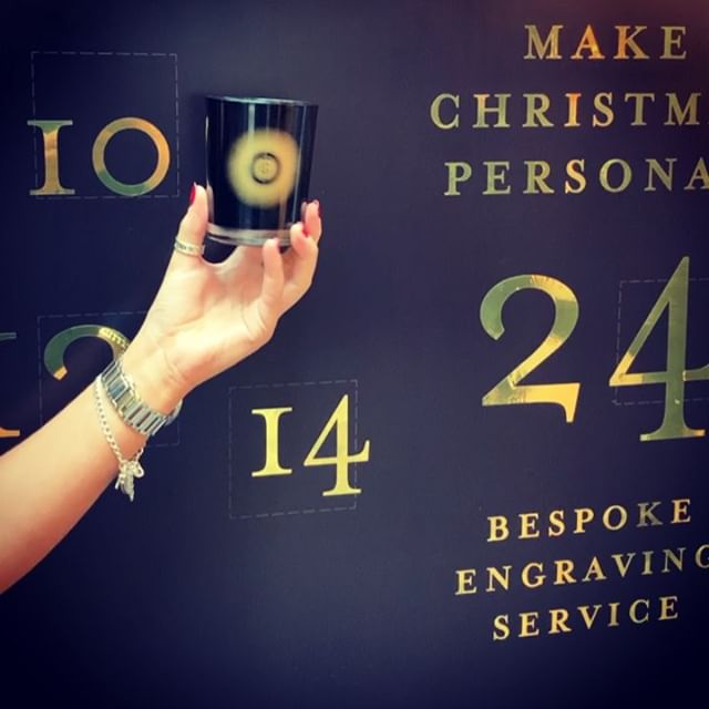Pop into our shop at 70 Burlington Arcade and personalise your candle.  Aday and Lauren will help you create the perfect gift with our bespoke engraving service 💚 • #MakeChristmasPersonal  #SustainableManufacturing  #makers #PerfectGift  #BespokeEngraving